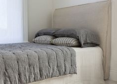 Flocca Linen Bedhead | beds & bedheads | est design directory | bedroom