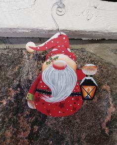 Holiday Santa Gnome with Latern | Etsy Bird Christmas Ornaments, Snowman Ornaments, Christmas Cats, Red Hats, One Color, Gnomes, Etsy Seller, My Etsy Shop, Santa