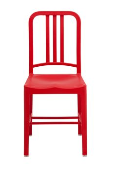 Replica US Navy Chair Plastic - Red -- The US Navy Chair was originally designed in 1944, and is now released in a weather resistant polypropylene.    These chairs have a very comfortable seat, and are lightweight so can be moved throughout the house.  The plastic is UV stablised, so they can also be used outdoors on your deck or with you garden patio setting.  The chairs come fully assembled, and are designed for both home and commercial use.  The plastic US Navy chairs are also available…