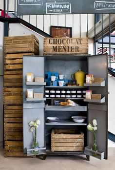 industrial pantry Market Lane Coffee in Melbourne : Remodelista Restaurant Marketing, Hotel Restaurant, Restaurant Design, Restaurant Interiors, Cool Cafe, Cafe Interior, Interior Design, Le Logis, Ideas Para Organizar