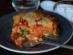 Copycat Stouffer's Vegetable Lasagna - Once A Month Meals - Better Than The Freezer Aisle - Freezer Meals