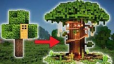 Minecraft: How to Build a Large Tree House Tutorial (EASY!) 2018