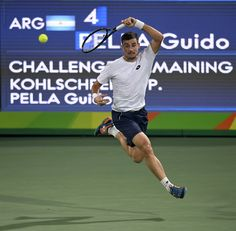 Guido Pella at the 2016 Olympics #tennis #GuidoPella #2016Olympics Olympic Tennis Event - Rio 2016