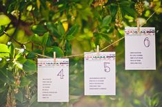 Cute idea for table cards/seating at a wedding #greenweddingshoes.com