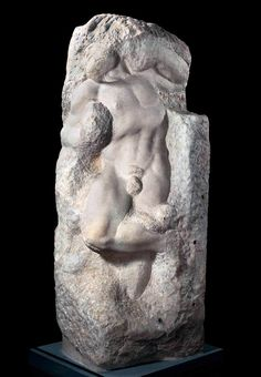 МИКЕЛАНДЖЕЛО. Раб (пробуждение). 1519-36 Мрамор. Галерея Академии, Флоренция