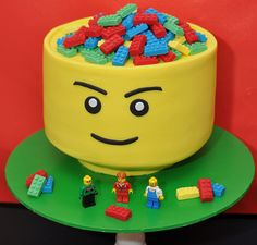 Lego party. Cake inspired by the Lego Sort n store head. The Cake by Olivia's Kitchen, image by Bella_Moore, via Flickr