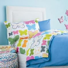 Girls' Flutterby Percale Pillowcases...   $24.00