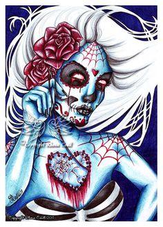 Sugar skull art; love it.