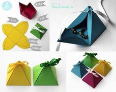 to DIY Simple Paper Pyramid Gift Box Origami Box PyramidOrigami Box Pyramid box pyramid How to DIY Simple Paper Pyramid Gift Box Origami Box Pyramid Paper Gift Box, Diy Gift Box, Diy Box, Paper Gifts, Gift Boxes, Paper Boxes, Paper Basket, Favour Boxes, Cute Gifts