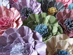 Handmade Paper Flowers Wedding 100-2 1/2 inch in Color of your Choice. $85.00, via Etsy.