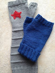 Ravelry: Winter Soldier Fingerless Gloves pattern by maratini knits