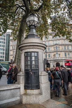 The Smallest police station. Trafalgar Square, London, UK