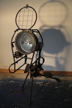 Industrial Home Design, Vintage Industrial Lighting, Industrial Living, Unique Lighting, Industrial Furniture, Industrial Style, Lighting Design, Steampunk Design, Steampunk Lamp