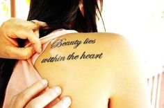 Hot Love Quote Tattoos for Girls - Charming Love Quote Tattoos for Girls  #qoute # tattoo #shoulder