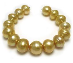 11.7-13.7mm Baroque Golden South Sea Pearl Bracelet with Deep Golden Pearls