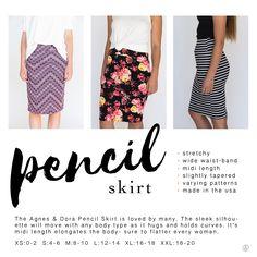 Agnes & Dora Pencil Skirt. Click here to check them out! www.shoppingwithbeth.com
