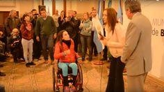 Escrache a Vidal: joven en silla de ruedas reclamó por los comedores provinciales