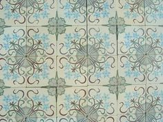 Art Nouveau excellence in a hallway and bathroom in London - The Antique Floor Company