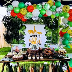 Godzilla Birthday Party, Animal Themed Birthday Party, Jungle Theme Birthday, Safari Theme Party, Wild One Birthday Party, 1st Boy Birthday, Boy Birthday Parties, Birthday Ideas, Africa Theme Party