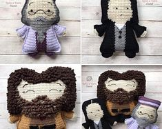 Crochet and Crochet Design by SpinaYarnStudio on Etsy Crochet Doll Pattern, Pdf Patterns, Crochet Patterns Amigurumi, Doll Patterns, Harry Potter Crochet, Harry Potter Dolls, Spanish Pattern, Crochet Keychain, Crochet Hook Sizes
