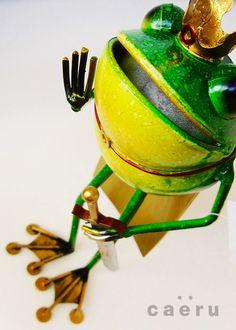 カエルの置物 アイアンアニマル メタルフロッグス プリンス