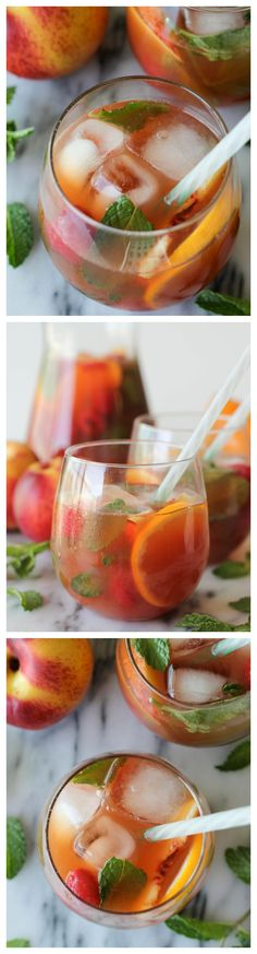 Raspberry Peach Iced Tea - This lightly sweetened iced tea is wonderfully fruity and so refreshing! Check out www.theherbnerdpodcast.com to learn more about herbs!
