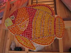Mosaic Fish #vintagemaya #mosaic #handcraft #home decor #fish