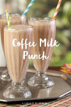Try this delicious #coffee milk punch this Fat Tuesday. Trust us. It's #boozy delicious-ness.