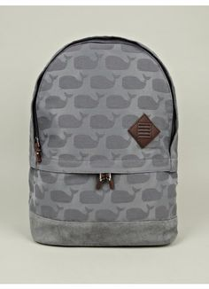 Men's Whale Print Backpack