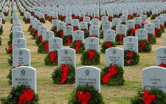 Wild Eyed Southern Celt :  Today, over 450,000 wreaths were laid on military graves across America. The project was started in 1990 by a small business which placed 5000 wreaths at Arlington. Wreaths Across America, despite almost no corporate sponsorship, now works to obtain enough wreaths to cover all 131 national military cemeteries and military graves in other locations.
