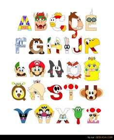 L'alphabet de Super Mario Bros par Mike Boon