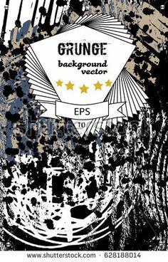 Grunge poster design for banner, flyer, website. Creative discount cards. Vector illustration eps10.