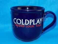 ColdPlay Twisted Logic Tour Coffee Cup / Mug Good condition FAST FREE SHIPPING