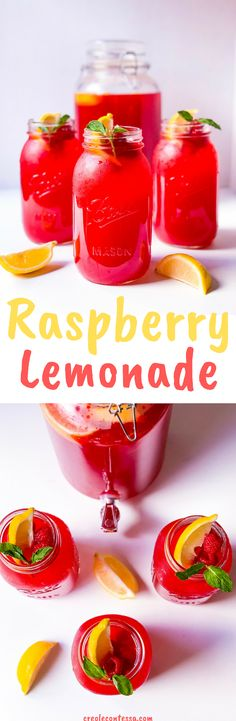 Raspberry Lemonade - Creole Contessa Fruit Drinks, Non Alcoholic Drinks, Party Drinks, Beverages, Cocktails, Holiday Drinks, Summer Drinks, Raspberry Lemonade Cupcakes, Hot Sauce Bottles