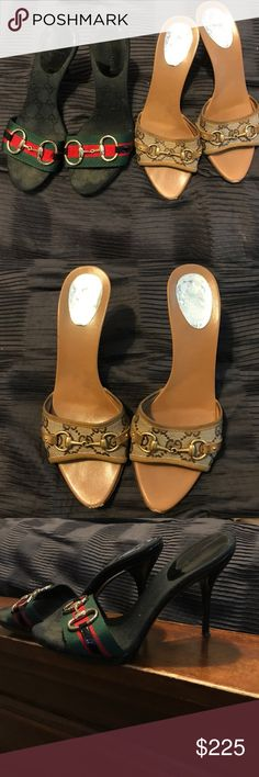 2fer❣️Gucci sandals bundle Two pair of gucci sandals. See additional pictures on individual listings. Pre-loved authentic with dust bags. No boxes. Available to be purchased individually. Gucci Shoes Sandals
