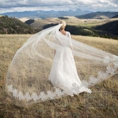 Custom Made Bridal Wedding Veils For Bohemian Brides Dresses Gowns' Matching Hair Accessories Cheap Lace Edge One Layer Chapel Train Veils Online with $28.42/Piece on Sarahbridal's Store   DHgate.com