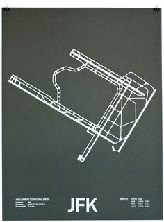 great screen prints of different airports