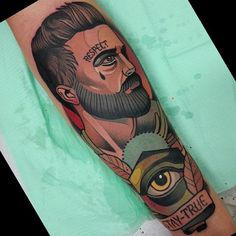 Done yesterday, in honor of his father. Traditional Tattoo Colours, Traditional Tattoos, Neo Tattoo, Tattoo Art, Sailor Jerry Tattoo Flash, Classic Tattoo, Life Tattoos, Color Tattoo, Tattoo Designs