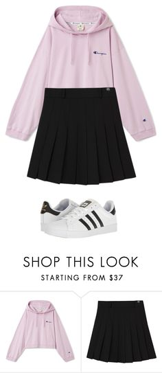 """""""Tennis skirt outfit"""" by killerkatherine on Polyvore featuring adidas"""