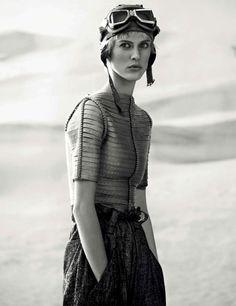 Aymeline Valade by Giampaolo Sgura - Giorgio Armani - Vogue Germany April 2015