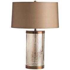 Arteriors Home Mandel Smoked Luster Glass Table Lamp