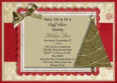 Christmas Baby Shower Invitation Printable