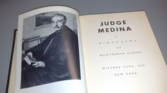 JUDGE MEDINA: A Biography by Hawthorne Daniel (1952, Hardback)