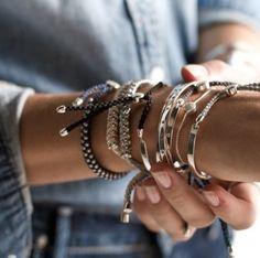 stackable friendship bracelets; myra madeleine