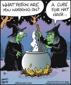 A Little Humor for Your Day – Potion for a Bad Hair Day Theme Halloween, Halloween Signs, Holidays Halloween, Happy Halloween, Halloween Witches, Halloween Images, Halloween Ideas, Funny Cartoons, Funny Comics