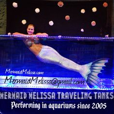 Professional underwater performer since 2005 traveling in mermaid tanks since 2009. Contact us for #mermaid #tank #aquarium #traveling #shows and #live #performances by #mermaidmelissa featuring #mermaids #mermen #underwatermodels #specialty #acts and Many different sizes of #travelingtank #tanks  #underthesea #water #theme #showcases by #YouTubemermaid #mermaidvideos #themermaidmelissa mermaidmelissa.com #mermaiding  #merteam #mertroupe #mermaidtail #mermaidcompany  Mermaidmelissa@gmail.com