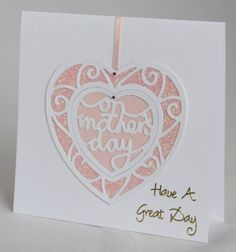 A pretty handmade Mother's Day card especially for a great mum | Handmade by Helen