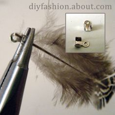 How to Make Feather Earrings -Feather Earring Tutorial