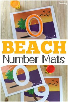 These beach themed number playdough mats are fun for practicing recognizing numbers from 0 to Summer Activities For Kids, Preschool Activities, Preschool Printables, Number Activities, Learning Through Play, Fun Learning, Beach Themed Crafts, Teaching Portfolio, Arts And Crafts Furniture
