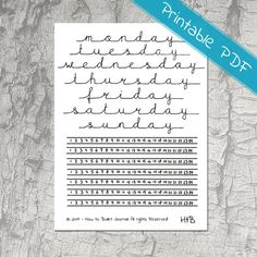 These Daily Planner Stickers with Time Trackers are perfect for your Bullet Journal or planner. The stickers are the perfect size for A5 notebooks, like the Leuchtturm1917 and Moleskine. * Beautiful Typography * Printable PDF File: Print on your own sticker paper and enjoy! * Time tracker are pre-filled (1h - 24h) * A4 Page: 21.0 x 29.7cm (11.93 x 15.98)  File can be downloaded immediately after payment is confirmed. The downloaded file is in PDF format. You need a PDF-viewer to print this…